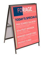 Black finish 30 x 40 large metal a-frame sign