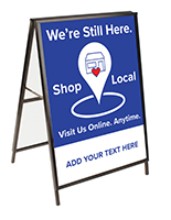30x40 outdoor shop local pavement sign with customizable double sided graphics