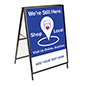 30 x 40 Outdoor shop local pavement sign with A-frame design