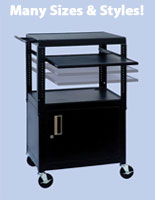 Audio Visual Cart with Wheels