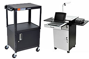 Audio visual carts classroom office media trolleys with cabinets media cart sciox Gallery