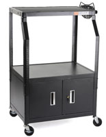 TV Trolley with Locking Cabinet