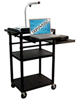 Media Cart for a Computer and AV Devices