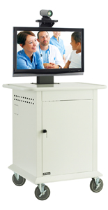 Powder Coated Video Conferencing Cart