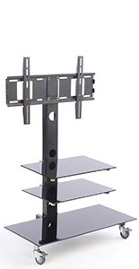 Mobile TV Stand with Mount for 65 Inch TVs