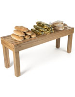 Rubber Wood Produce Display Table