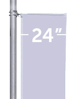 Street Pole Brackets for 24 inch wide Banners