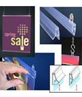Retail stores use these banner rails to advertise new objects in store windows.