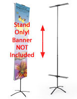 These banner stands are extremely portable and easy to set up.
