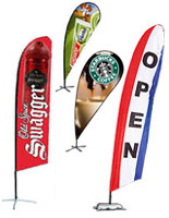 Huge selection of banner flags available in many styles and print options.