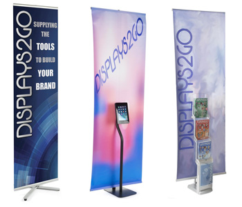 non-retracting banners with stands