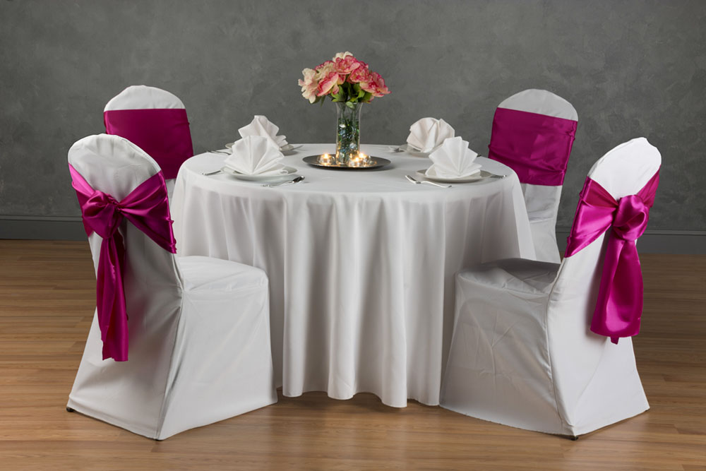 banquet table and chairs