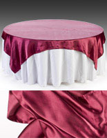 These banquet linens, also called tablecloths are offered in many colors and sizes.