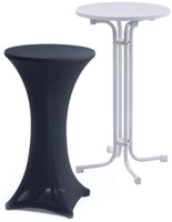 portable cocktail table with cover