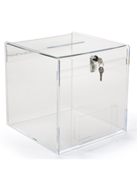 Tabletop Plexiglass Donation Box
