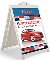 Portable Custom 36 x 48 Sandwich Board