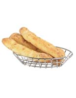Restaurant Bread Baskets with a Stainless Steel Finish