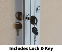 Swingframe Acrylic Doors corkboard & 4\u0027 x 3\u0027 Locking Framed Corkboard - Swing-Open Door