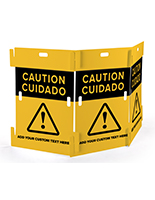 Interlocking caution barricade with built in handles