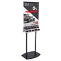 "67""h Double-Sided Poster Stand with Business Card Slots"