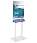 "22"" x 28"" Acrylic Poster Stand with Business Card Holders"