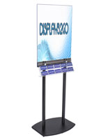 Black Poster Stand with BIM体育iness Card Rack Made of Acrylic