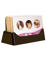 Business card holders for spas and salons