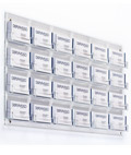 Clear 24-Pocket Wall Business Card Holder, Acrylic