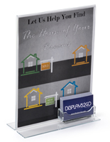 Custom Business Card Holder with Sign Frame