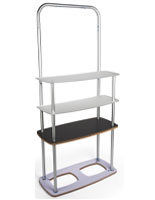Stretch Fabric Shelf Stand with Aluminum Frame