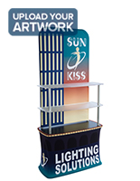 Tension Fabric Shelf Stand for Floor Display