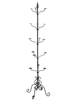 wrought iron hat stands