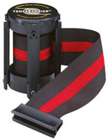 Black W/ Red Stripe 7 1/2' Replacement Belt For Tensabarrier Stanchions