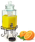 Beverage Dispensers Include a Spigot and Ice Chamber, Ideal for Buffet or Restaurant Use.