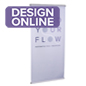 Double sided indoor hanging banners with custom printing 24x48
