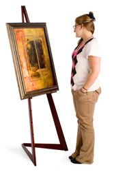 This Poster Display Art Easel Is A Perfect Tool For Showcasing Artwork Posters Menus And Portraits Constructed From Quality Wood With Cherry Finish