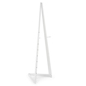"67.25""h White Wooden Easel"