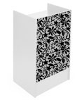 White Register Stand with Recessed Top & Floral Graphic Panel