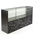 Showcases with Storage Cabinet, Sliding Doors & Floral Graphic