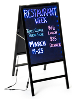Illuminated Sidewalk Display for Restaurants