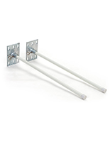 Wall mount banner hardware system with silver square base