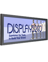 4' x 8' Black Banner Stretching Frame for Large Format Prints