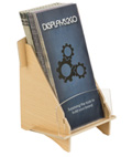 Countertop Knock Down Wood Brochure Holder
