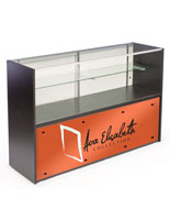 5' Glass Store Counter with Graphics