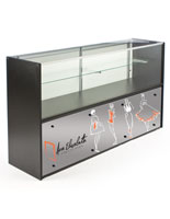 6' Glass Store Counter with Graphics