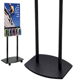 Black Plastic Poster Stands