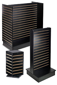 Black Slatwall Merchandising Fixtures