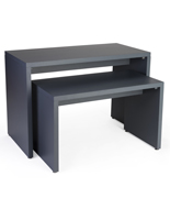 Gray Wooden Block Nesting Console Table Set
