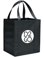 Black Custom Tote Bags for Freebies