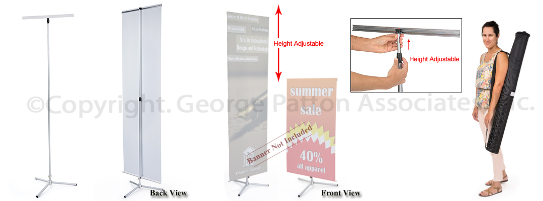 how to assemble a banner stand